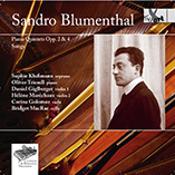 Sandro Blumenthal Piano Quintets Opp. 2 & 4